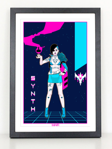 Synth Wave Atari 80s Video Game poster print