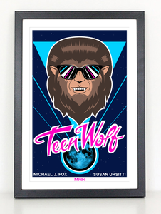 Teen Wolf 80s movie poster print