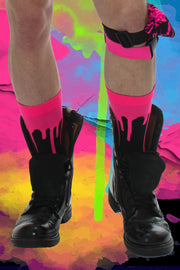 Drip Socks I NEON PINK UV