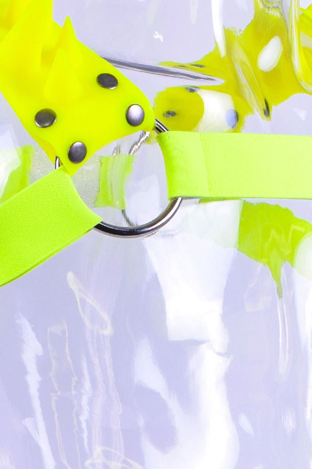 Blades | Spiked Harness | Neon Yellow