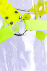 Blades | Spiked Harness | Neon Green