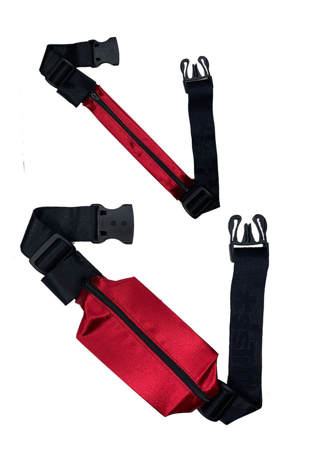 *ssBag I RED SATIN I Running Belt