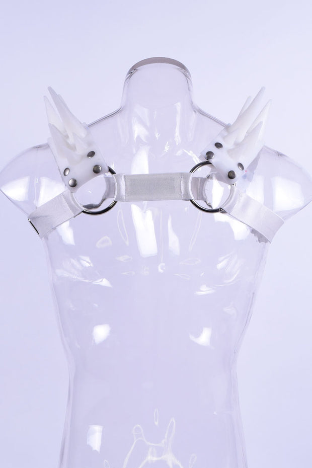 Blades | Spiked Harness | UV White