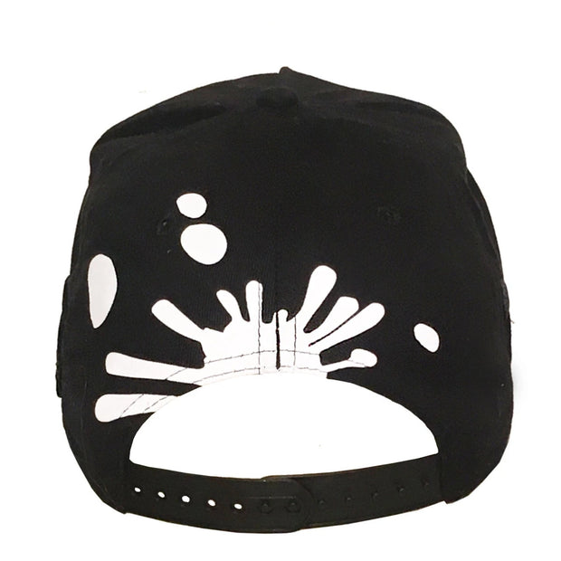 Skull Hat I BLACK | Double Brim w/ Zipper