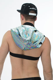 WhoreNess I Sequin Hood Harness I DAZZLE BLACK
