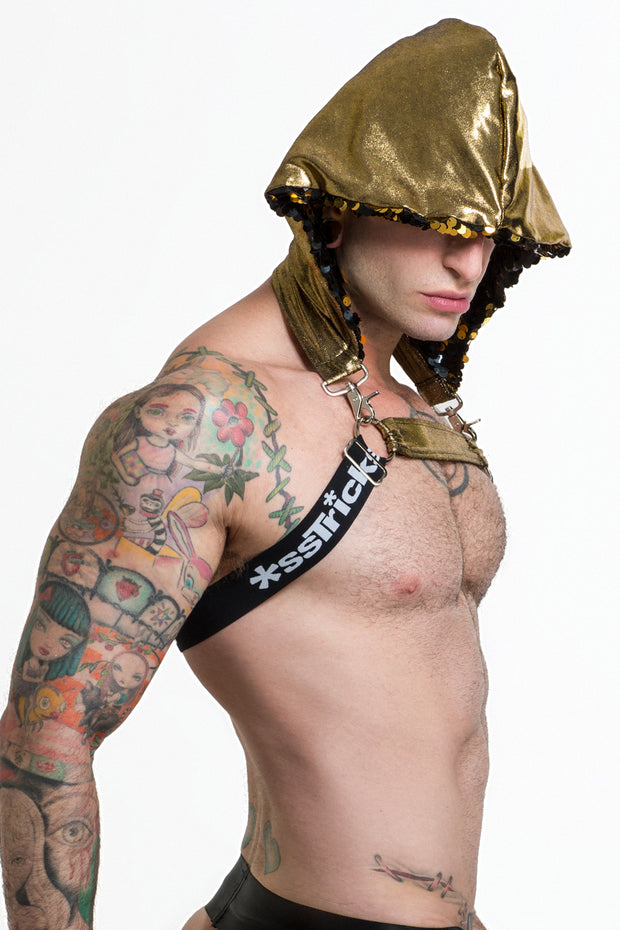 "WhoreNess ""Hooded Harness"" Black Gold"
