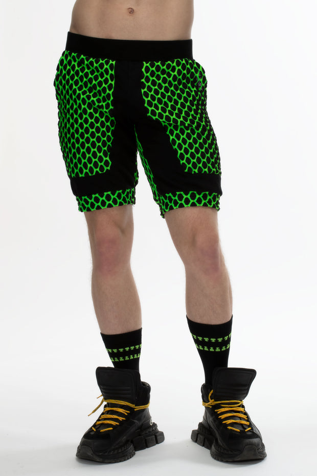 Fusion Shorts with Pockets I ELECTRIC GREEN