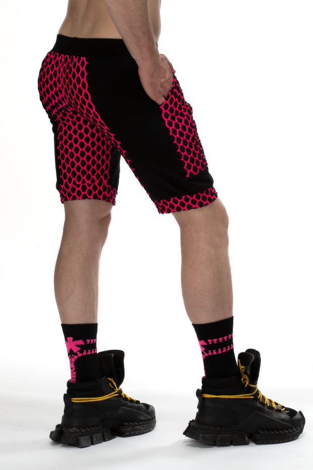 Fusion Shorts with Pockets I ELECTRIC PINK