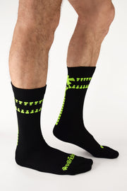 Unzip Me Neon Yellow Socks