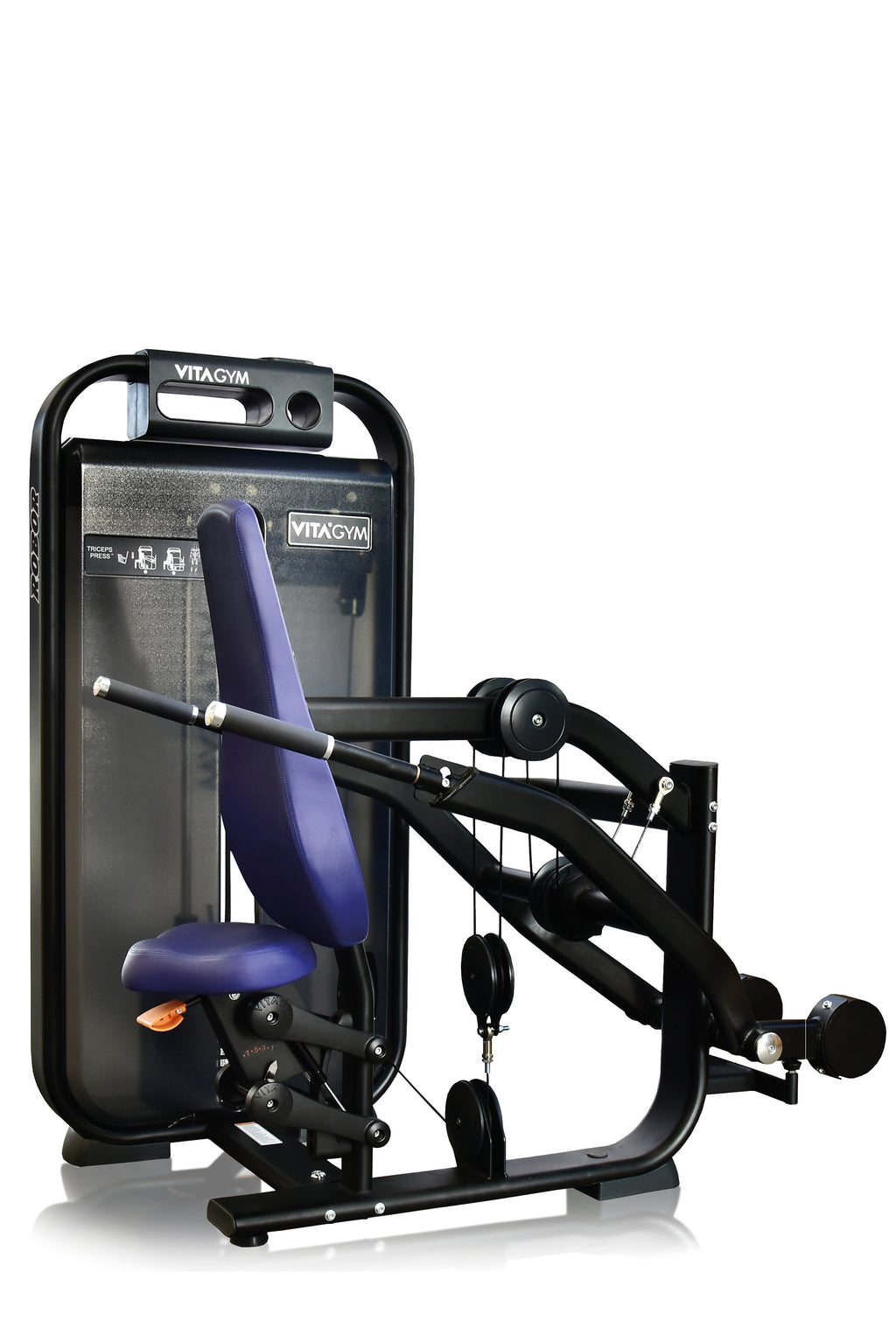 Seated Trizeps Press -  Vitagym V6 Line - Trizepsmaschine vertikal
