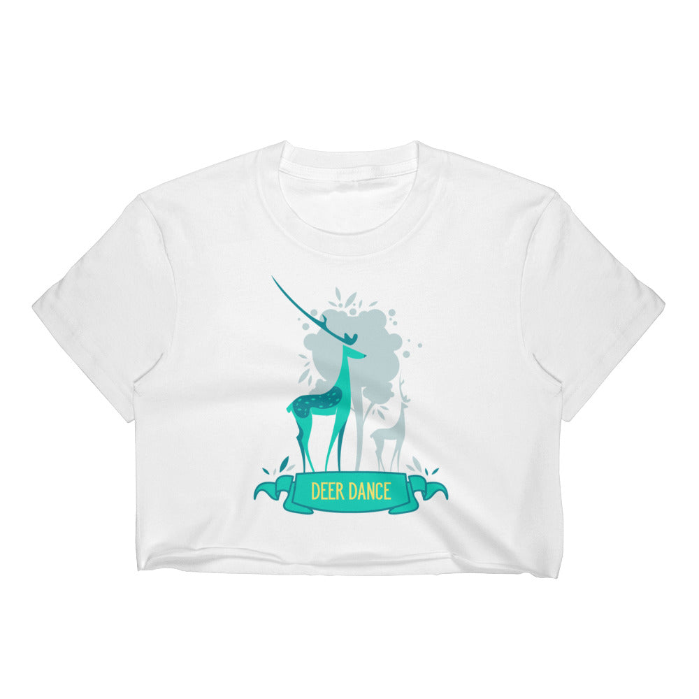 Deer Dance Women's Crop Top - printx247.com