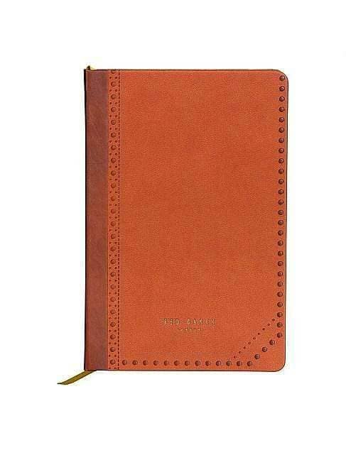A5 NOTEBOOK BROWN BROGUE KIKU