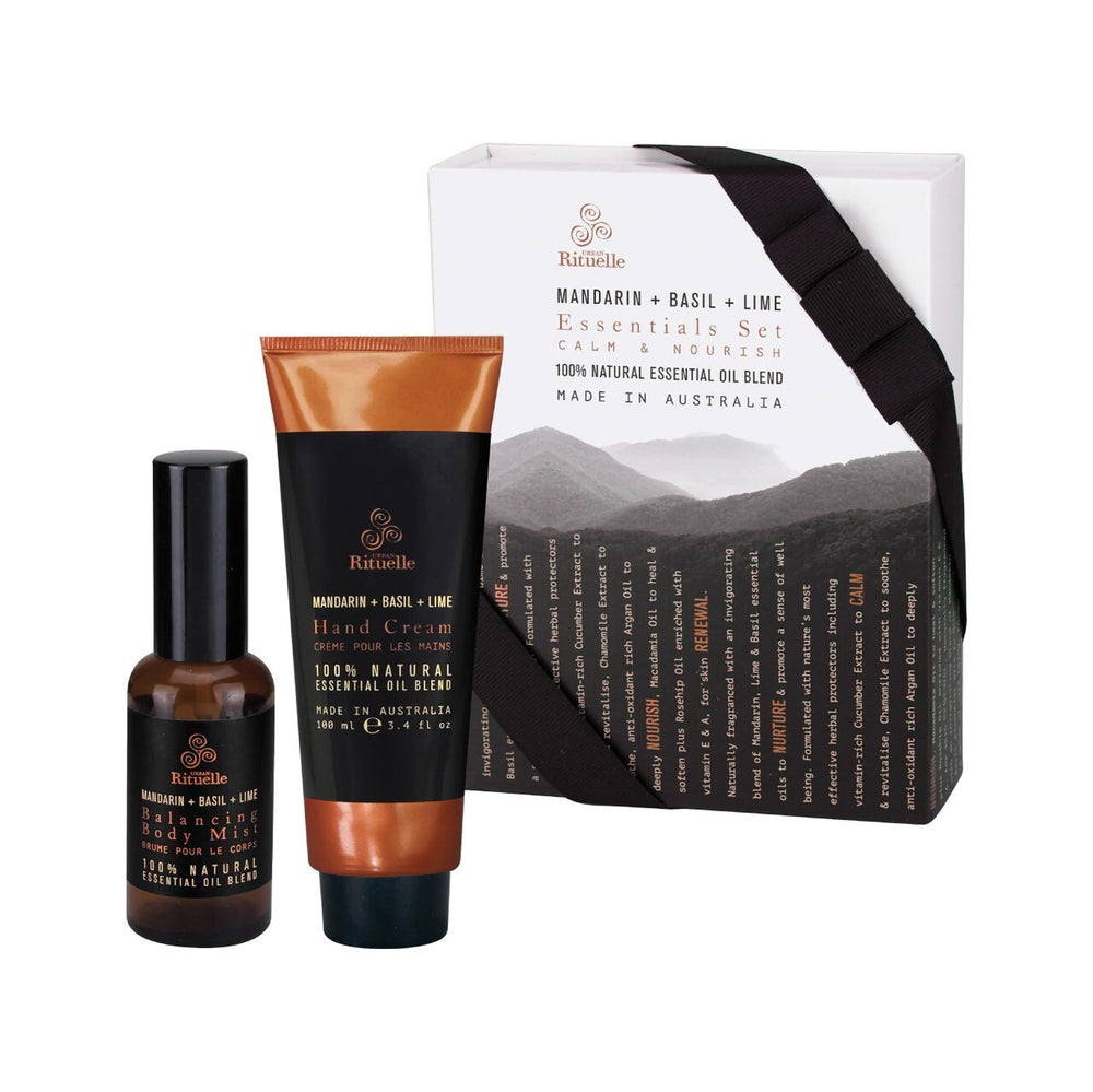 Urban Rituelle Equilibrium Essential Set Mardarin Basil & Lime Gift Set