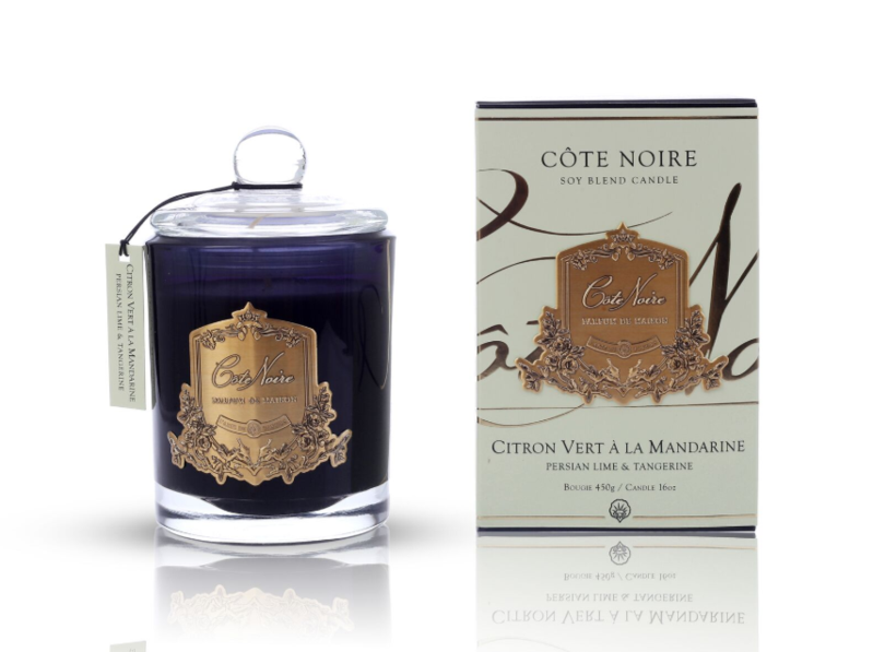 Cote Noire 450g Soy Blend Candle - Persian Lime and Tangerine Gold - GML45022