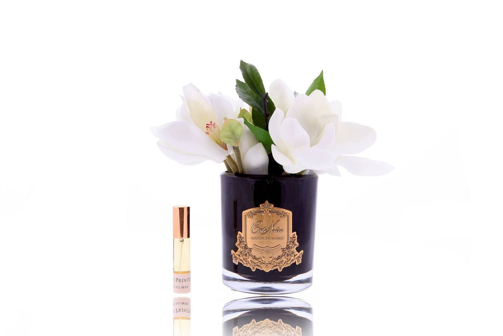 Côte Noire Perfumed Magnolias in Black Glass -Pink - LUVBOX