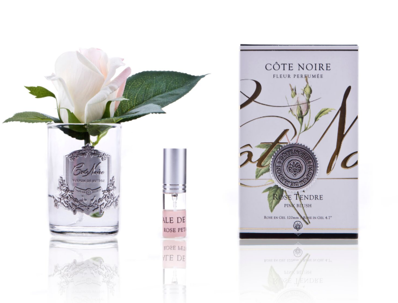 Côte Noire Perfumed Natural Touch Rose Bud in Clear- Pink Blush Frost GMR42