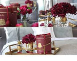 Cote Noire Luxury Grand Bouquet Gold Badge in Carmine Red Burgendy with Gold Trim - LTW04 Box