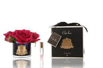 Côte Noire Perfumed Natural Touch 5 Roses in Black- Carmine Red