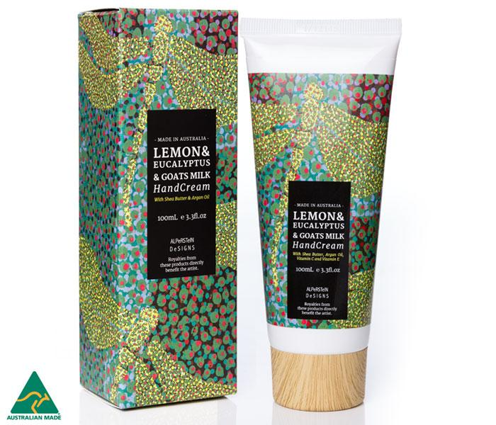 Lemon & Eucalyptus, Goats Milk Hand Cream with Shea Butter & Argan Oil