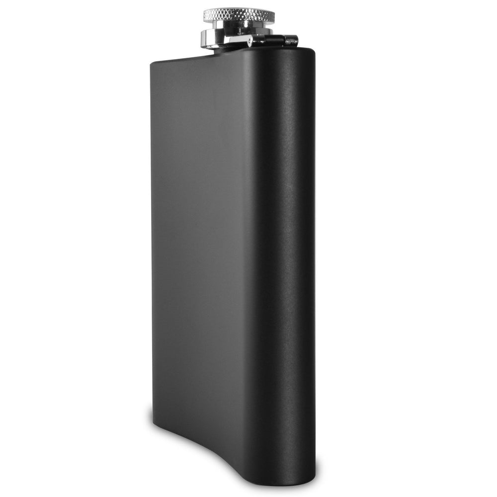 Vidori Premium 150ml Gun Metal, Leakproof, Flask - Highest Food Grade (304) Stainless Steel - Liquor Hip Flasks - . Funnel and Black Gift­ Box Matte Black, 240ml