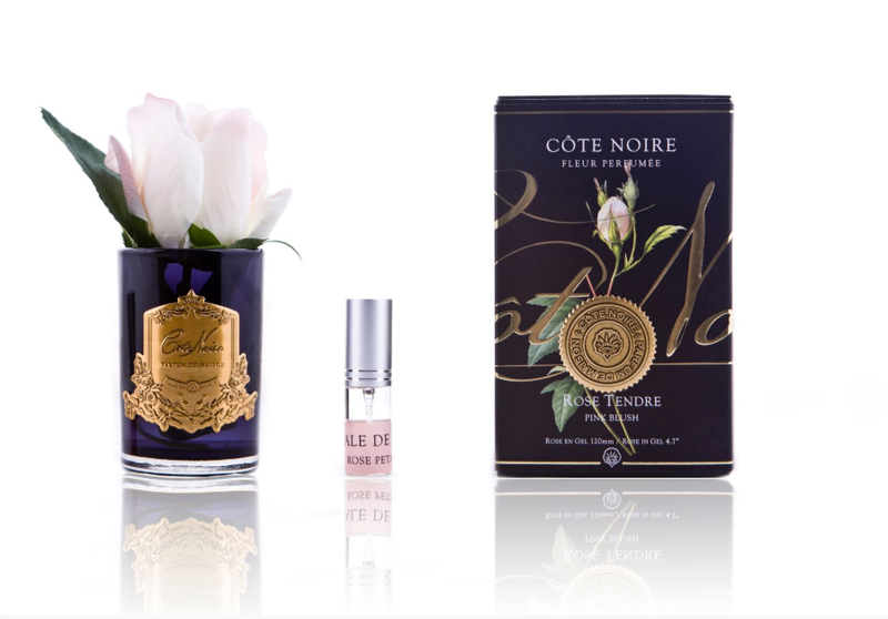 Côte Noire Perfumed Natural Touch Rose Bud in Black - Pink Blush - LUVBOX