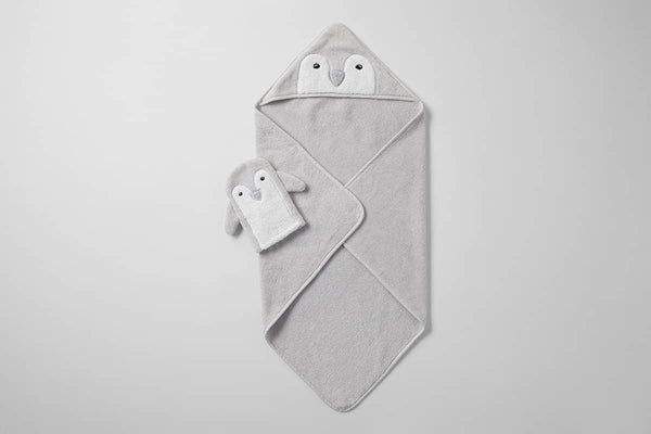 Pipp Hooded Baby Towel & Mitt Set - LUVBOX