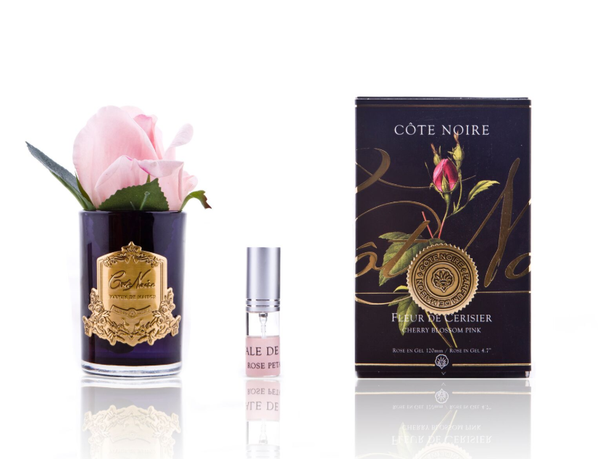 Côte Noire Perfumed Natural Touch Rose Bud in Black - French Pink - LUVBOX