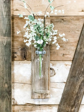 Load image into Gallery viewer, Wood Wall Decor With Glass Vase