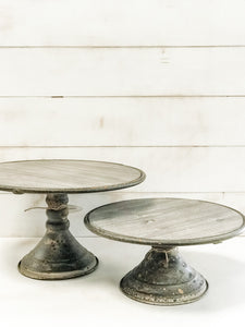 Round Display Pedestal Two Sizes - The Rustic Barn CT