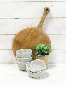 Stoneware Flower Shaped Bowl - Rustic Barn CT