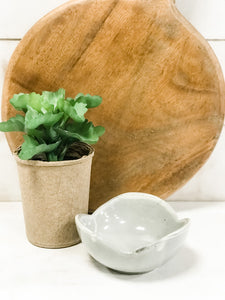 Stoneware Flower Shaped Bowl - The Rustic Barn CT