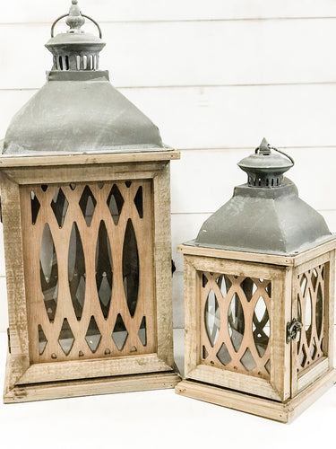 Latticework Lantern - The Rustic Barn CT