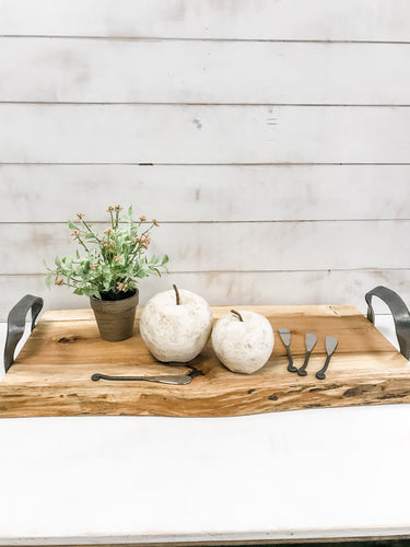 Handmade Wooden Cheese Board - The Rustic Barn CT
