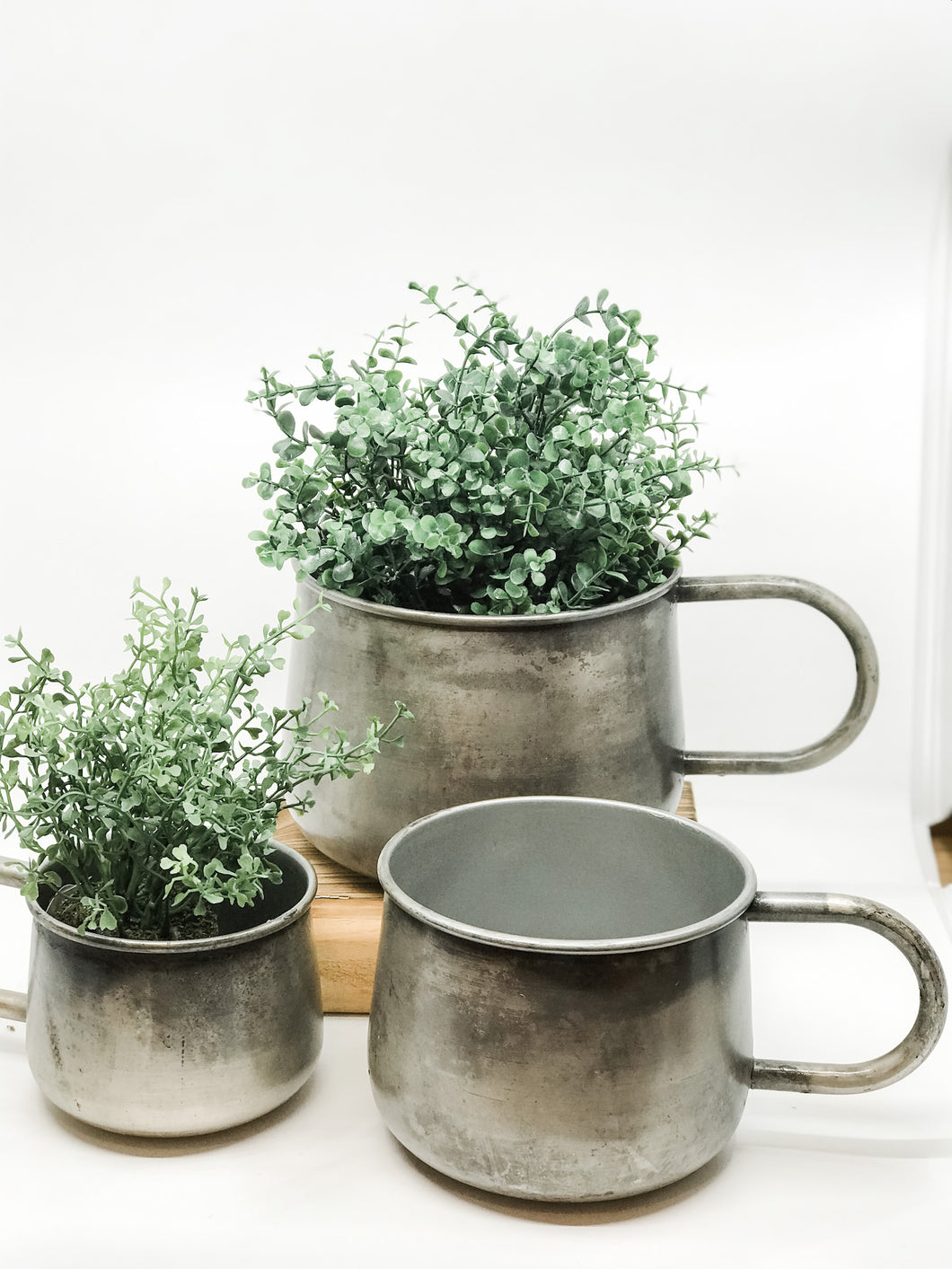 Patina Mug Planter - The Rustic Barn CT