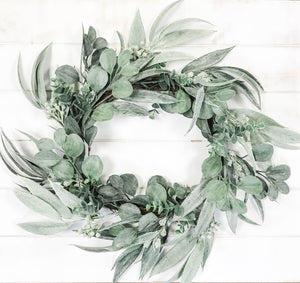 California Eucalyptus Wreath - The Rustic Barn CT