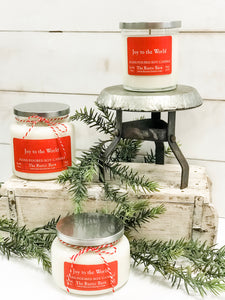 Joy to The World Hand Poured Soy Candle