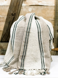 Sandstone Cotton Throw - The Rustic Barn CT