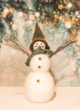 Load image into Gallery viewer, Wool/Felt Snowmen 2 Sizes