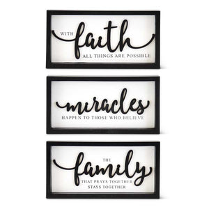 Rectangle Black and White Inspirational Sign - The Rustic Barn CT
