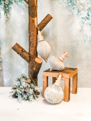 Grooved Ornament Collection, 3 Styles