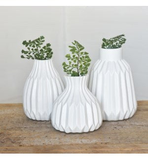 Matte White Ceramic Vase, 3 Sizes