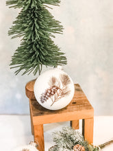 Load image into Gallery viewer, Winter Pinecone Round Ornament, 2 Styles