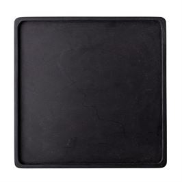 Square Acacia Wood Tray, Black