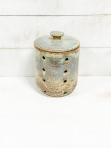 Stoneware Garlic Keeper