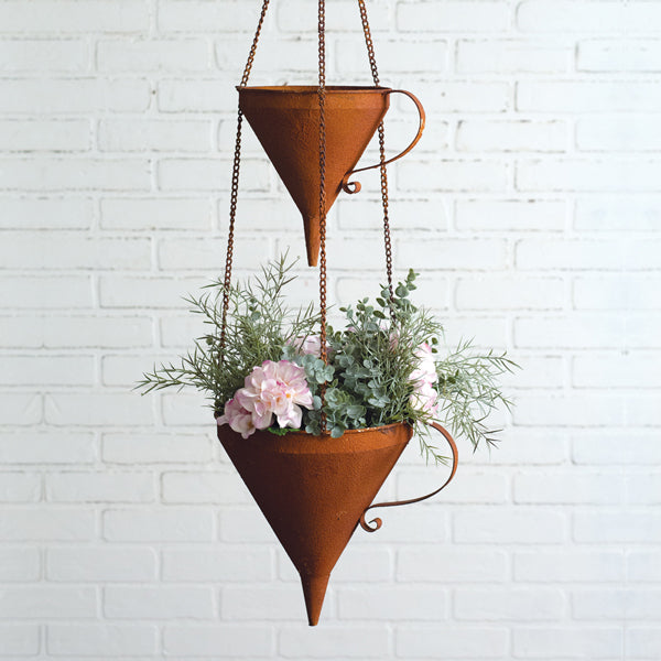 Two-Tier Hanging Funnel Planters