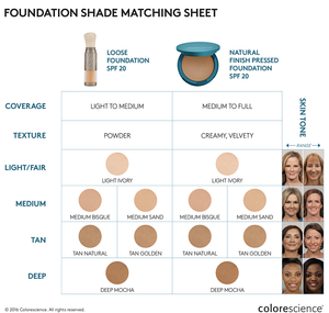 Colorescience Pressed Foundation SPF20 - All Shades