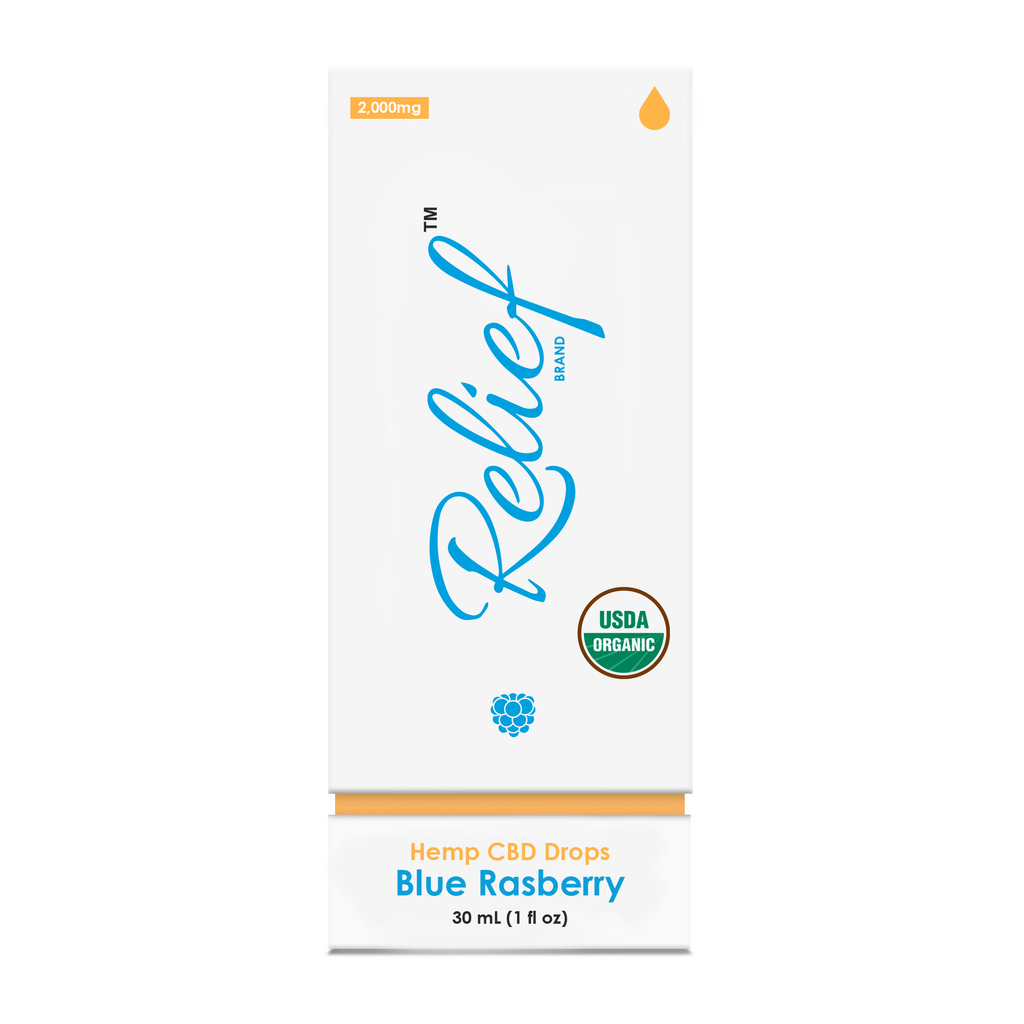 USDA Organic CBD Blue Raspberry Drops