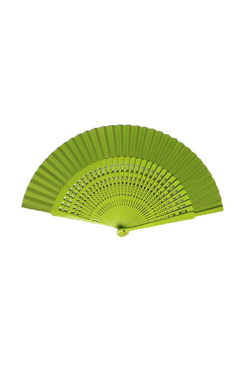 Abanico Carved Wood Small Fan for Kids (Assorted Colors)