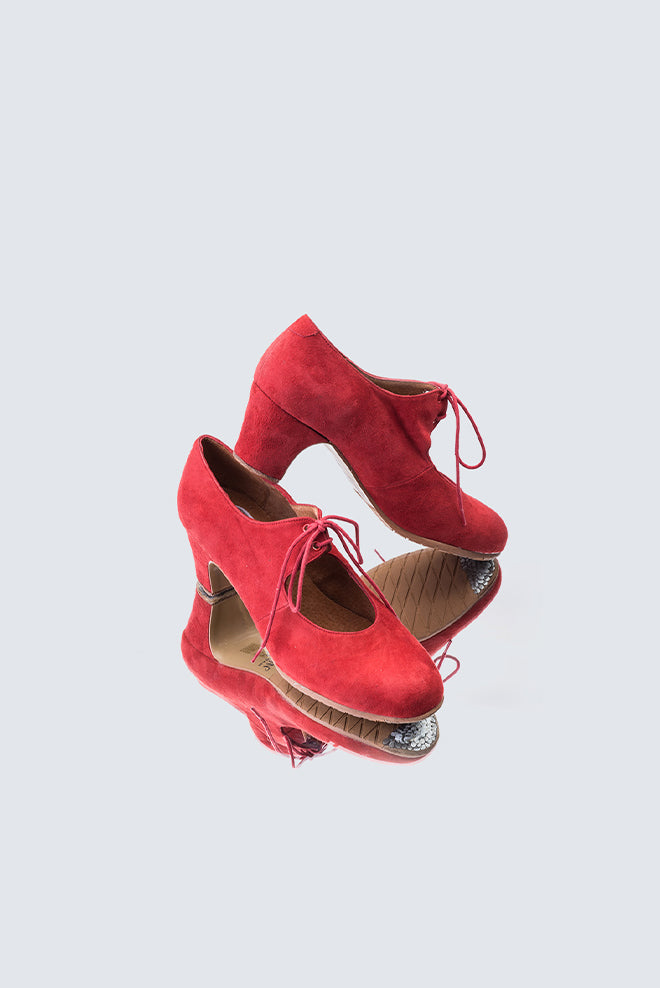 Sevilla Debutante Red Suede Shoes