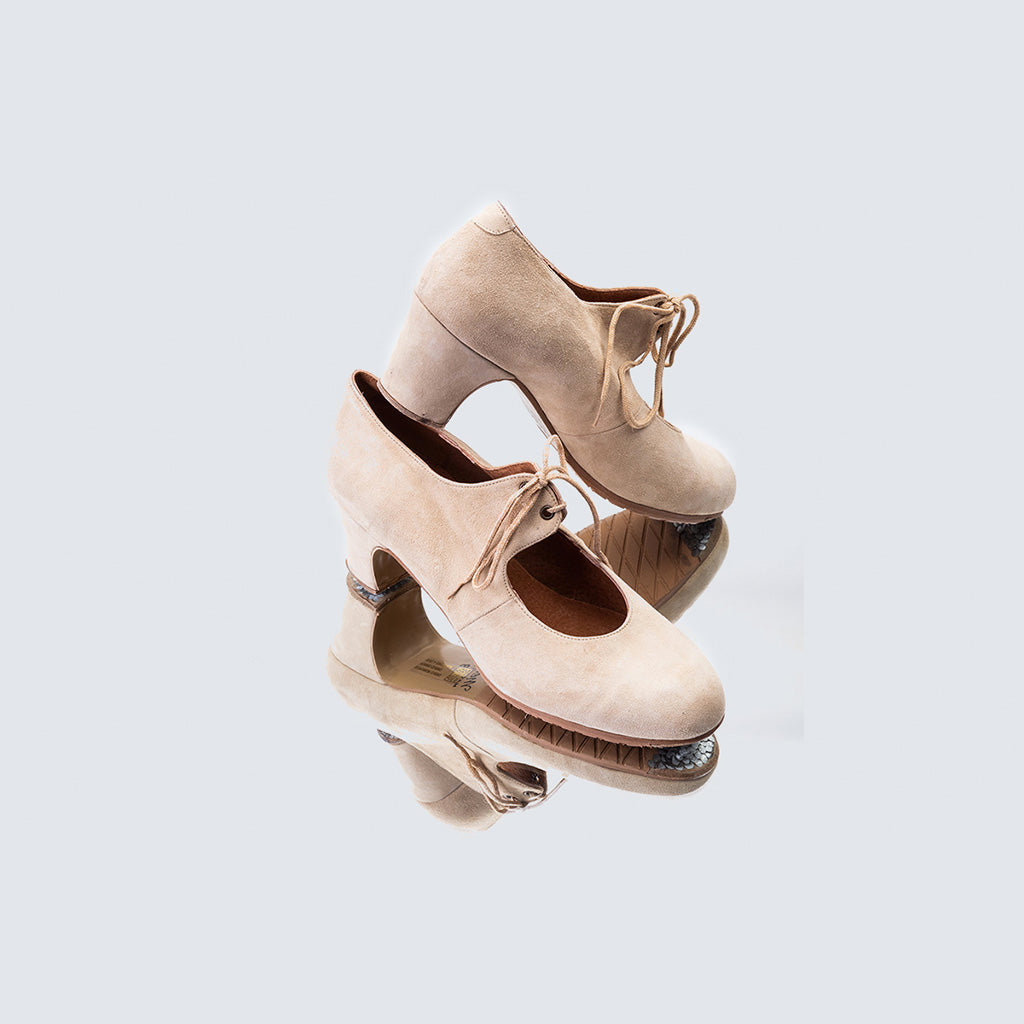 Sevilla Debutante Beige Leather Shoes